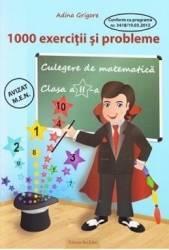 Culegere de matematica clasa 2. 1000 exercitii si probleme - Adina Grigore