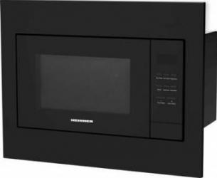Cuptor cu microunde incorporabil Heinner HMW-23BI-BK 23 l 800 W Digital Timer Grill Sticla Neagra Cuptoare cu microunde
