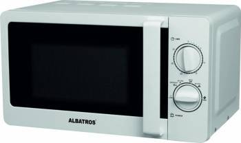 Cuptor cu microunde Albatros MWA 20MC2 700W 20L Timer Functie dezghetare Alb Cuptoare cu microunde