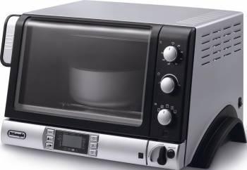 Cuptor electric DeLonghi Pangourmet EOB 2071, 1400 W, 20 l, 220 grade, Grill, Functie coacere paine, Display, Negru/Arg Cuptoare Electrice
