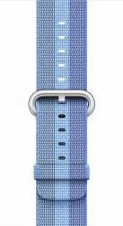 Curea Apple Watch 42mm Woven Nylon - Albastru matuit Accesorii Smartwatch