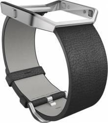Curea Piele pentru Fitbit Blaze L Neagra Accesorii Smartwatch