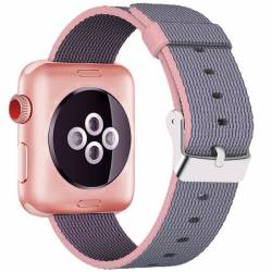 Curea pentru Apple Watch 38 mm iUni Woven Strap Nylon Dark Purple Accesorii Smartwatch