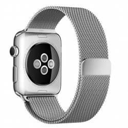 Curea pentru Apple Watch 38mm Otel Inoxidabil iUni Silver Milanese Loop Accesorii Smartwatch