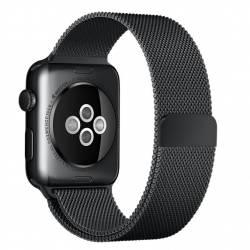 Curea pentru Apple Watch 38mm Otel Inoxidabil iUni Space Black Milanese Loop Accesorii Smartwatch