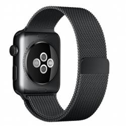 pret preturi Curea pentru Apple Watch 38mm Otel Inoxidabil iUni Space Black Milanese Loop