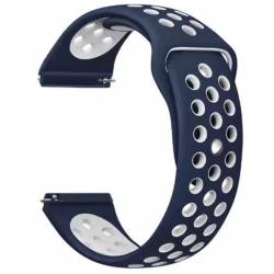 Curea silicon compatibila cu Samsung Galaxy Watch 42mm Telescoape QR 20mm  AlbastruAlb