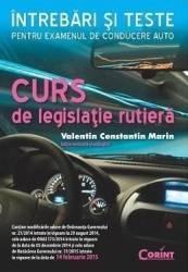 Curs de legislatie rutiera. Intrebari si teste Ed. 2016 - Valentin Constantin Marin Carti