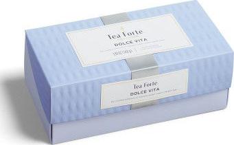 Cutie cu 20 de piramide de ceai Tea Forte Ribbon Box Dolce Vita