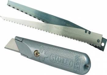 Cutter Stanley cu lama trapez + 2 lame fierastrau
