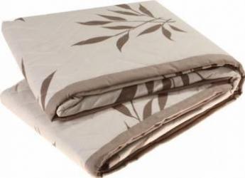 Cuvertura de pat matlasata Mally Cappucino Flower 230 x 240 cm Cuverturi & Paturi