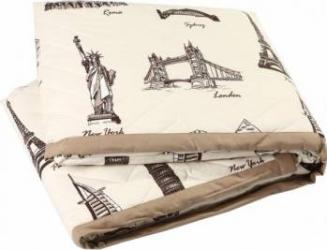 Cuvertura de pat matlasata Mally City Mix 230 x 240 cm Cuverturi & Paturi