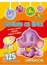 Cuvinte cu lipici Elefant Carti