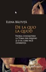 De la quo la quod - Elena Baltuta