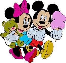 Decoratiune Din Burete Copii MyKids Mickey Si Minnie SRMK-0015  Decoratiuni camera