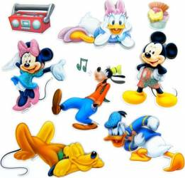 Decoratiune Din Burete Pentru Camera Copii MyKids Mickey SPH-112