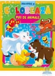 Descopera si coloreaza puii de animale