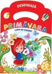 Deseneaza Primavara - Carte de colorat Carti
