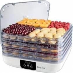 Deshidrator de fructe si legume Beper 90.507 350W 25kg Oprire automata Alb Deshidratoare