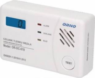 Detector monoxid de carbon ORNO OR-DC-619 cu baterii Alarme