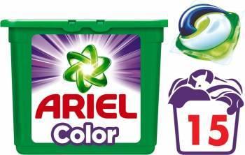 Detergent Ariel Gel Capsule Pods Color 15x28ml Detergent si balsam rufe