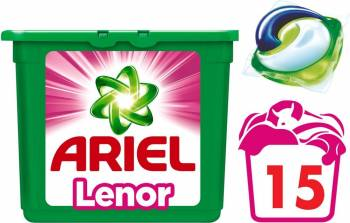 Detergent Ariel Gel Capsule Pods Touch of Lenor 15x29ml Detergent si balsam rufe
