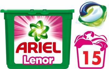 Detergent Ariel Gel Capsule Pods Touch of Lenor 15x29ml Detergent si balsam rufe
