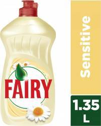 Detergent de Vase Fairy Sensitive Chamomile and Vitamin E 1.35L Curatenie Bucatarie