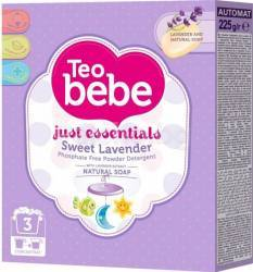 Detergent pudra Teo Bebe Just Essentials cu levantica automat 0.225kg detergent si balsam rufe