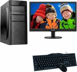 Diaxxa Best Buy Dual Core G3900 2.8GHz 500GB 4GB + Monitor LED Philips 18.5inch
