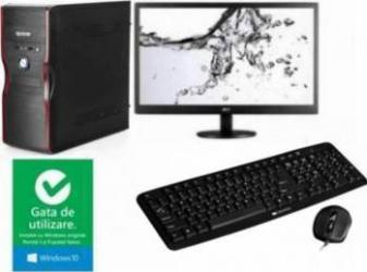 Diaxxa Best Buy Office Dual Core J1800 2.4GHz 500GB 4GB DDR3 + Monitor LED 19 AOC E970SWN + Windows 10 Calculatoare Desktop