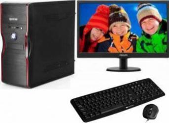 Diaxxa Office Intel Celeron G3930 2.90GHz 500GB 4GB DDR4 + Monitor LED 18.5 Philips 193V5LSB210 Calculatoare Desktop