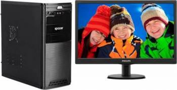Diaxxa Office Intel Pentium G4400 3.30GHz 1TB 4GB DDR4 + Monitor LED 18.5 Philips 193V5LSB210 Calculatoare Desktop