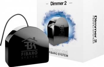 Dimmer 2 Fibaro Negru Kit Smart Home si senzori