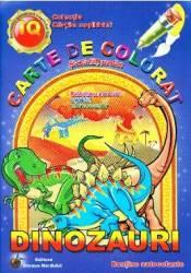 Dinozauri - Carte de colorat si activitati practice