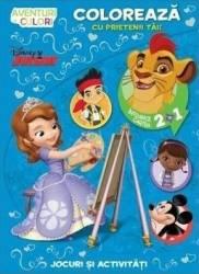 Disney - Coloreaza Cu Prietenii Tai Aventuri In Cu