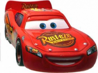 Disney Cars 2 - Lightning McQueen cu roti de curse Machete