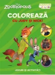 Disney Zootropolis - Coloreaza cu Judy si Nick