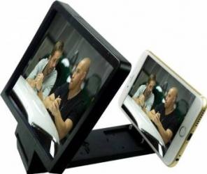 Dispozitiv pentru marirea imaginii telefonului mobil cu difuzor negru Accesorii Diverse Telefoane