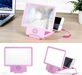 Dispozitiv pentru marirea imaginii telefonului mobil cu difuzor roz Accesorii Diverse Telefoane