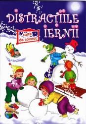 Distractiile iernii - Carte de colorat