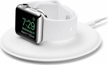 Dock Apple cu incarcare magnetica pentru Apple Watch, Alb Accesorii Smartwatch