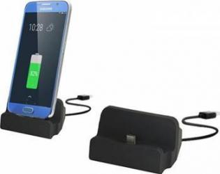 Dock de incarcare cu microUSB - Black Incarcatoare Telefoane
