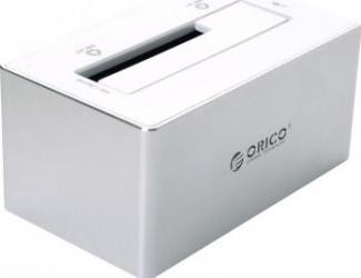 Docking Station Orico 6818US3 SATA USB 3.0 Silver Aluminium