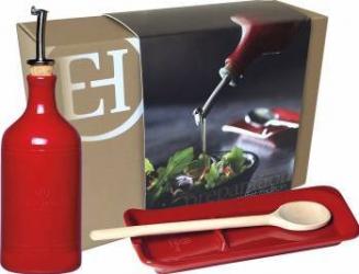 Dozator ulei 0 45 l + Suport lingura 22 5 cm - Emile Henry Articole pentru servit