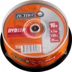 DVD+R 4.7 Gb 16x Acme 25 buc. CD-uri si DVD-uri
