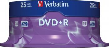 DVD+R 4.7GB 120 min 16x Verbatim 25 bucset CD-uri si DVD-uri