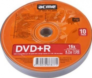 DVD+R 4.7GB 120Min 16x ACME 10 buc set CD-uri si DVD-uri