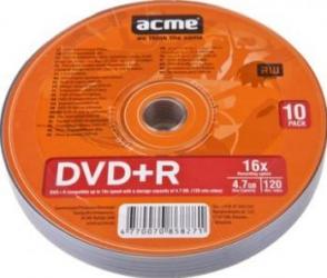 DVD+R 4.7GB 120Min 16x ACME 10 buc set CD-uri si DVD-uri