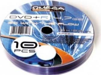 DVD+R 4.7GB 16x Omega 10 buc CD-uri si DVD-uri